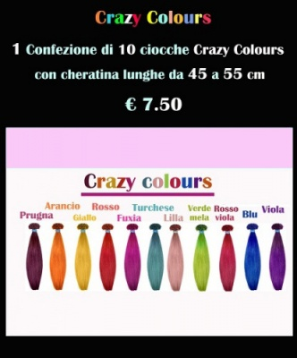 Extension con cheratina in Crazy colours